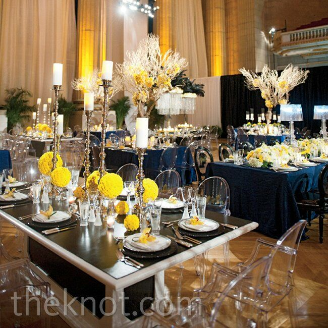 Modern Yellow And Navy Reception