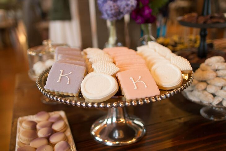 Pink and Purple Personalized Sugar Cookies