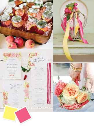 Bright summer wedding color ideas