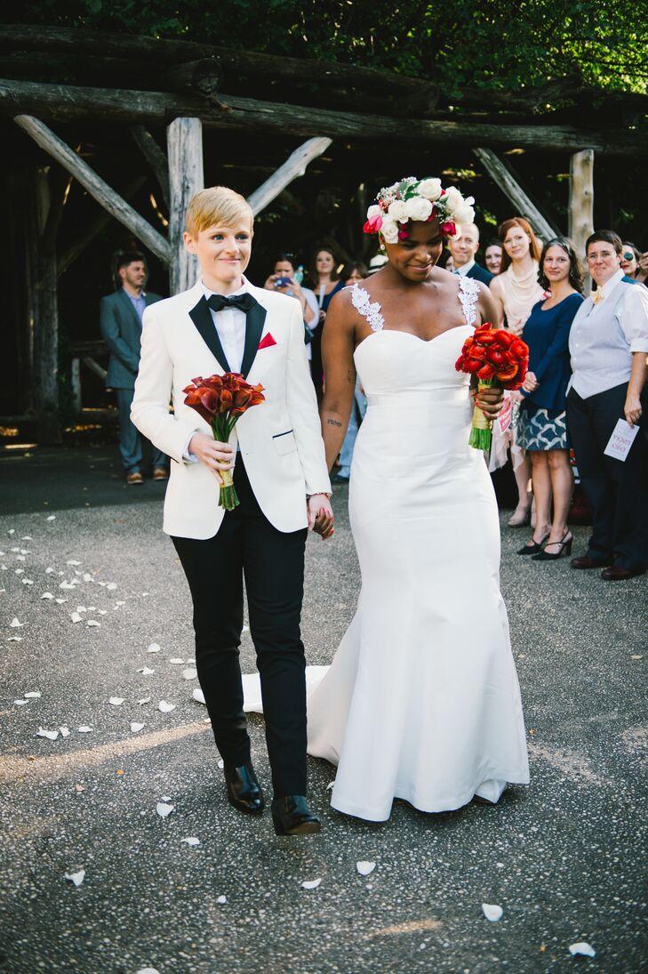 a funky wedding at bat haus in brooklyn new york