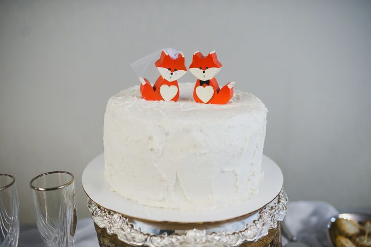 Whimsical Fox Wedding Cake Toppers - Wedding Cake Toppers Okc