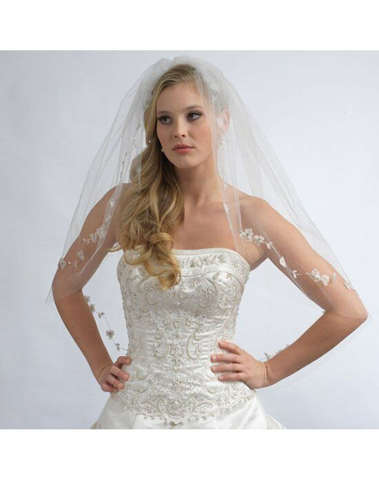 USABride 1 Layer, Flower Blossom Bridal Veil VB-5001 Wedding Accessory photo