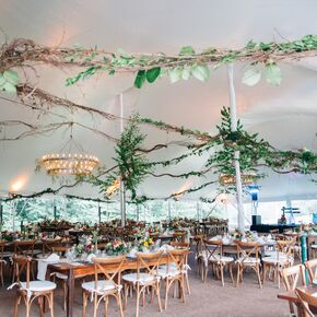 Whimsical wedding reception wedding decorations accents whimsical curly vine tent garlands junglespirit Choice Image