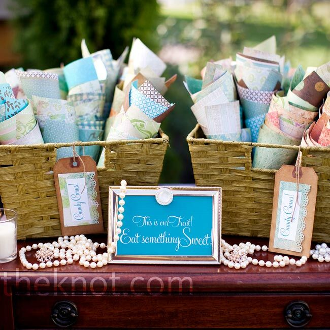 Candy Bar For Wedding Ideas: Vintage Wedding Candy Bar