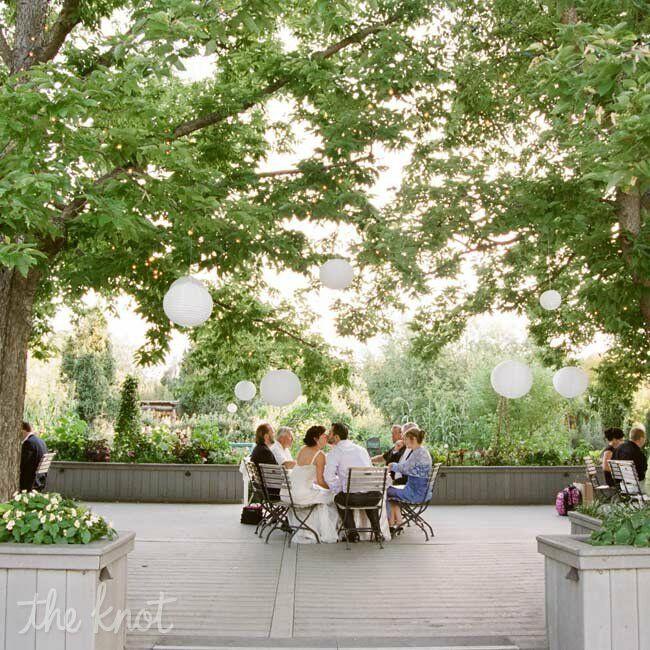 Denver Botanic Gardens Wedding Reception