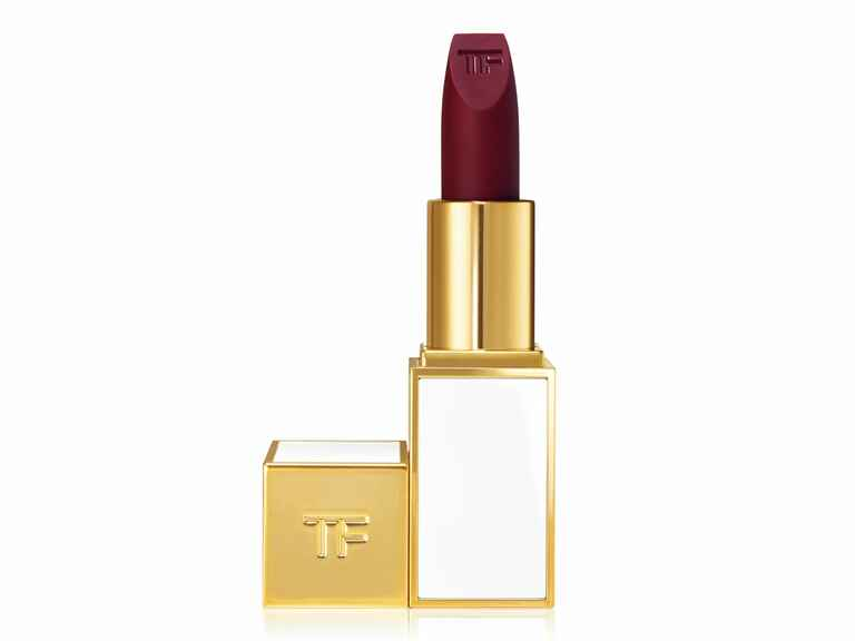 The Knot wedding lipstick party lip Tom Ford in Purple Noon