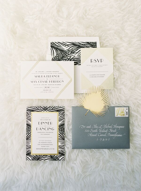 Palm Springs Inspired Art Deco Invitations
