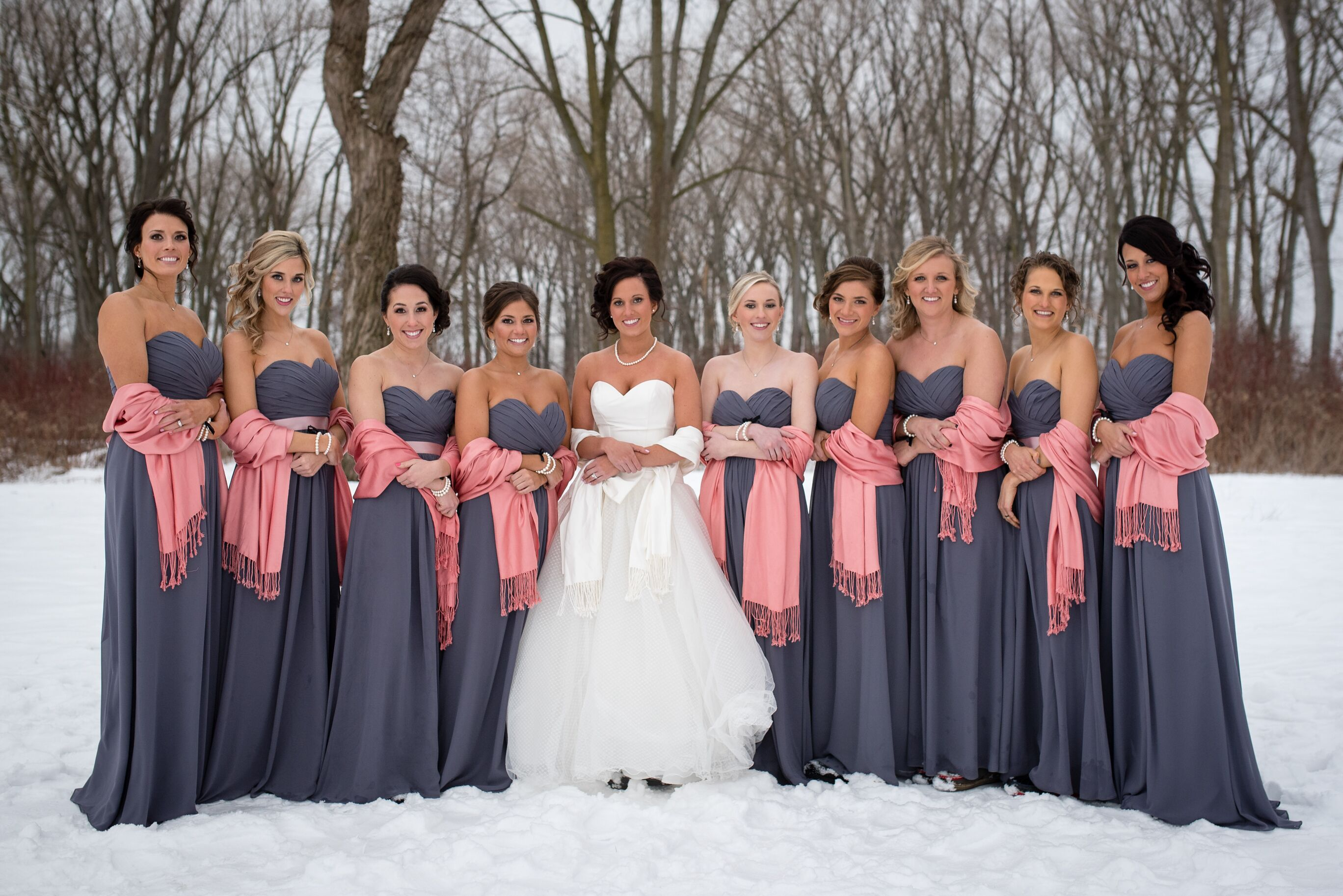 bridesmaid colored pashminas scarves