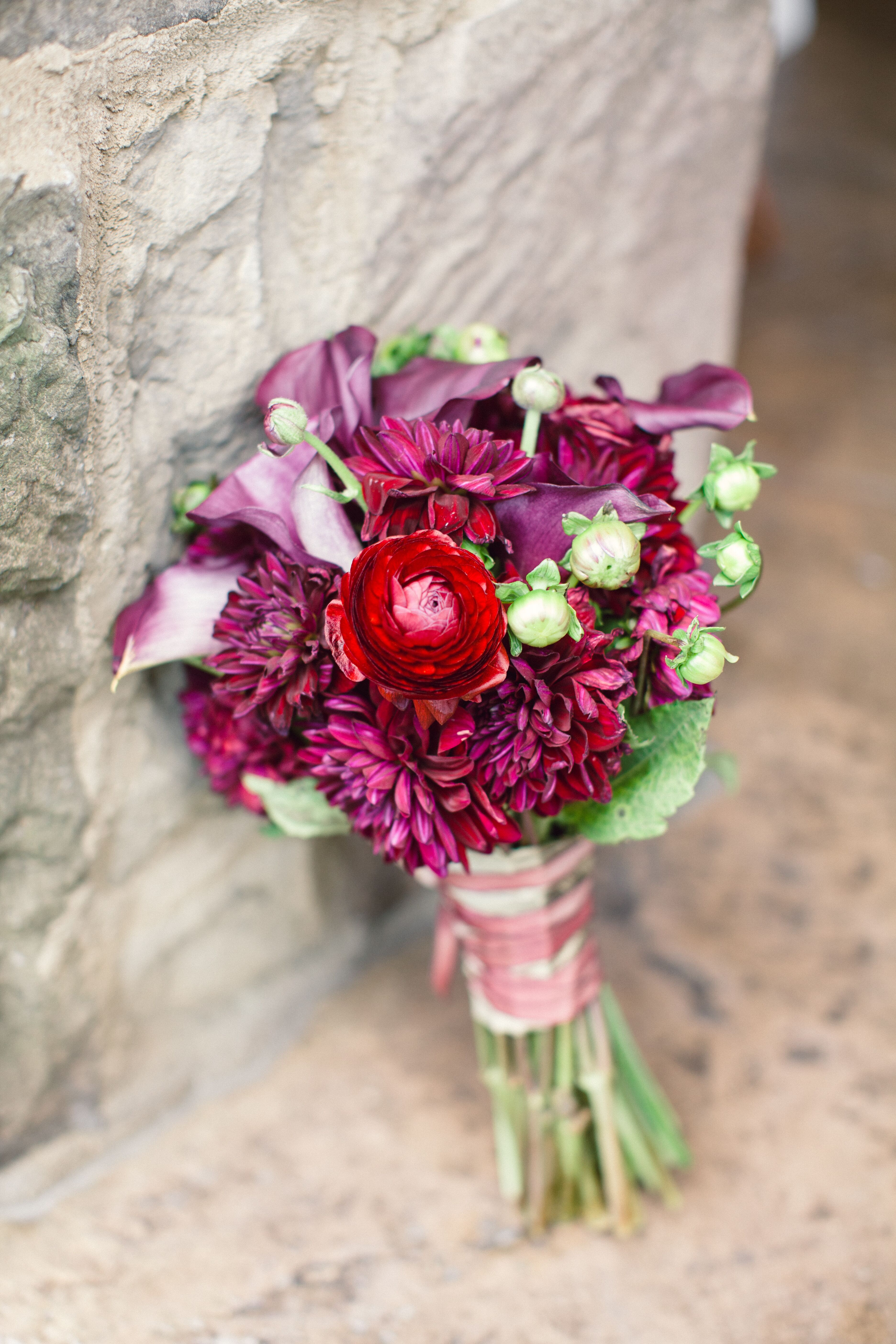 Dahlias Calla Lilies And Ranunculus Bouquet