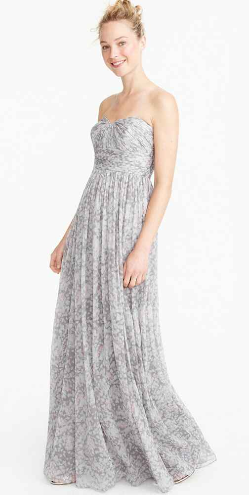 grey bridesmaid dress by J. Crew