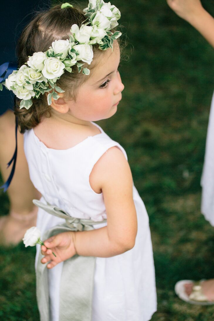 White rose flower girl flower crown izmirmasajfo