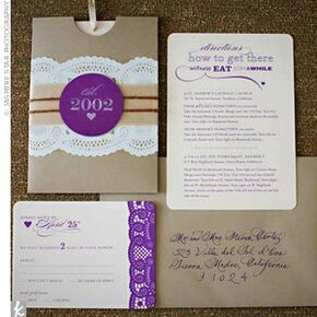 purple wedding invitations, invitation samples