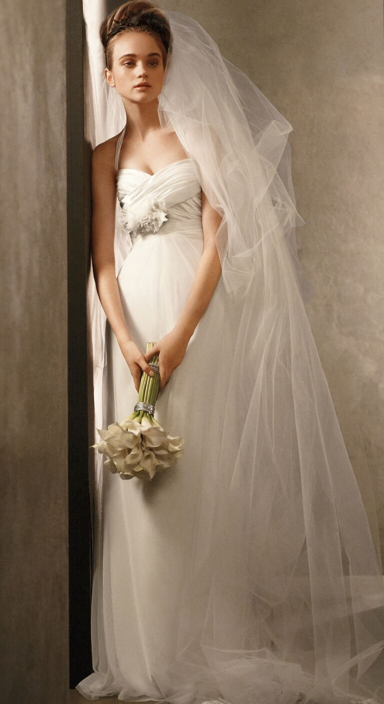 Vera Wang long tulle wedding veil