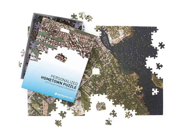 Hometown jigsaw puzzle engagement gift ideas