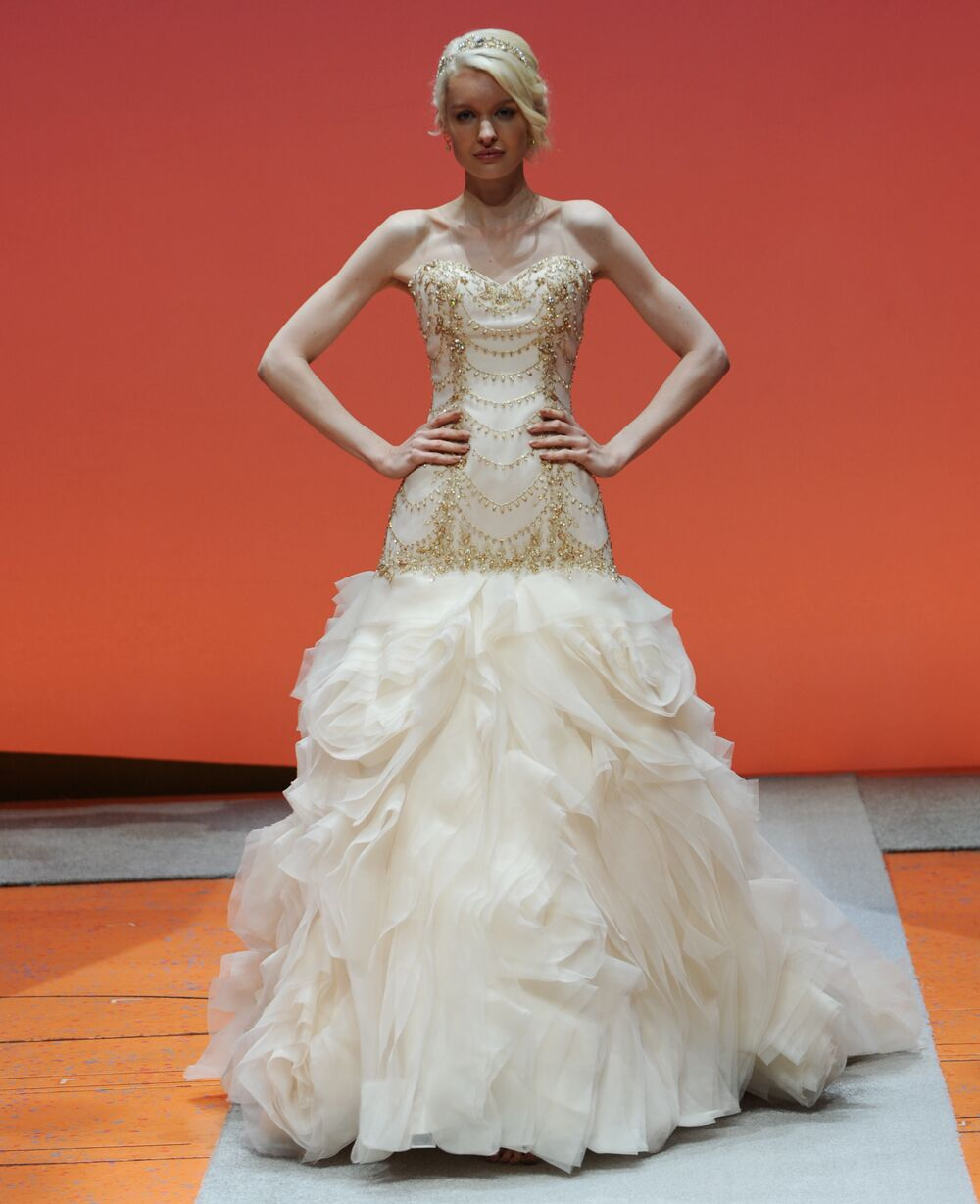 Disney Fairy Tale Weddings by Alfred Angelo Bridal Fashion Week Photos