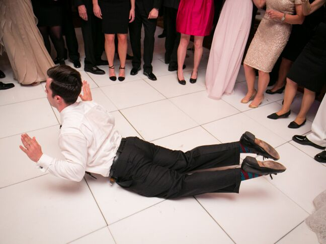 Wedding guest dancing on the floor