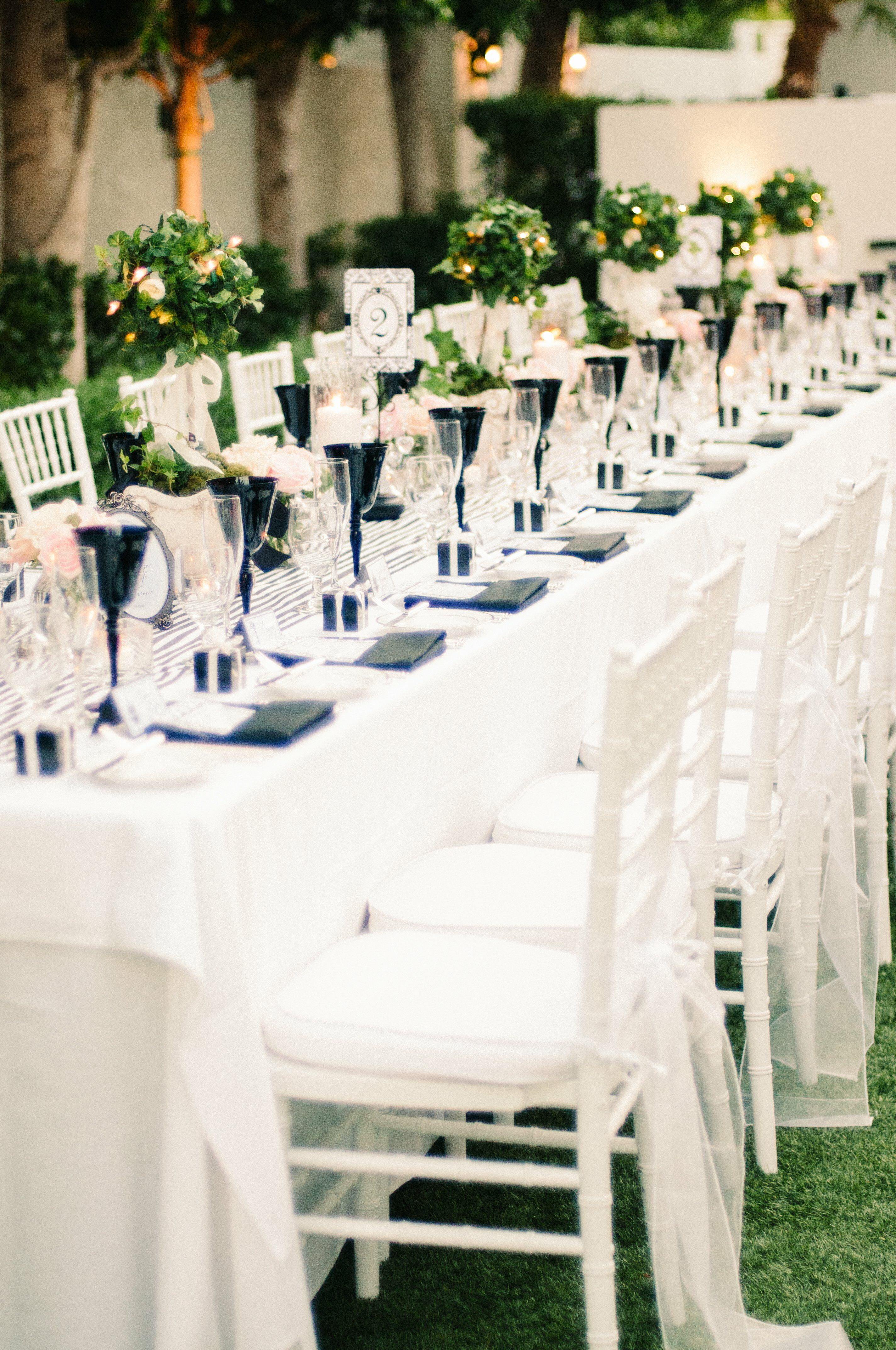 Ivy Topiary Centerpieces