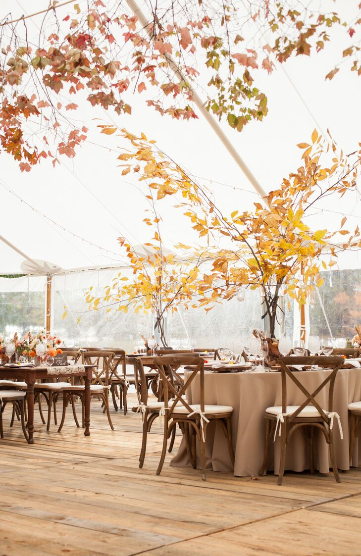 Natural Fall Tree-Inspired Centerpieces