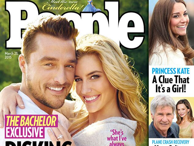 The Bachelor stars Chris Soules and Whitney Bischoff pose on the cover of People
