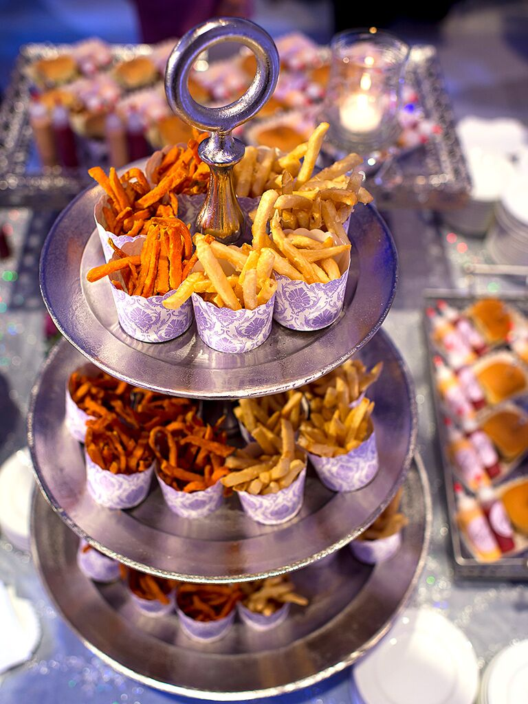 Late Night Snack Bar For A Wedding Reception Food Station