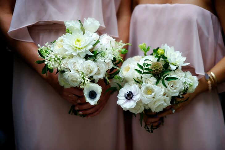 White Bridesmaid Bouquets