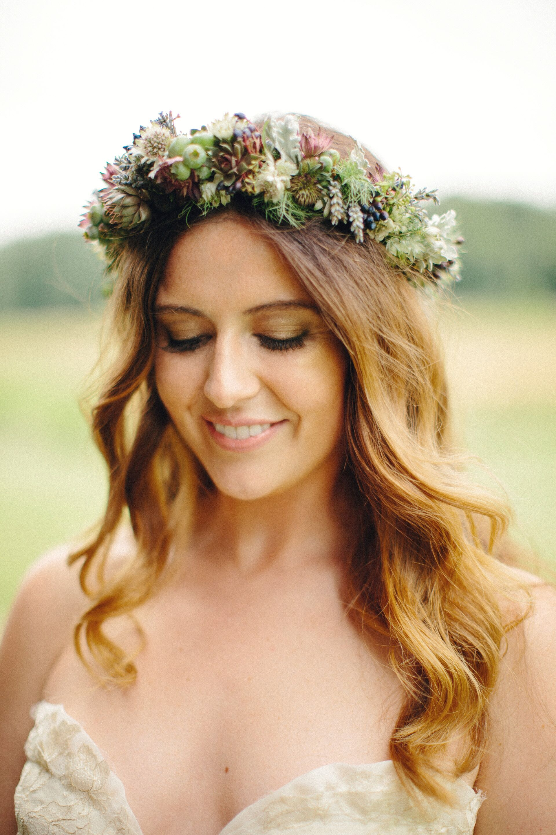 Natural Green Flower Crown