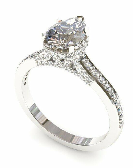 Enchanted Diamonds Pear Pave with Side Halo CH3-4W-P Engagement Ring photo