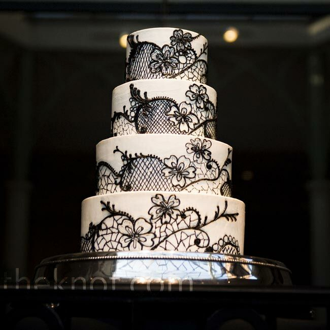 black lace wedding cakes black lace cake 11869