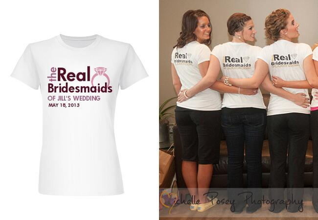 bridesmaids in funny real housewives inspired t-shirts