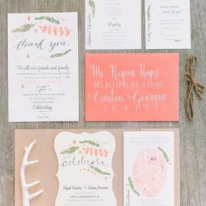 Diy wedding invitations charming diy invitation set junglespirit