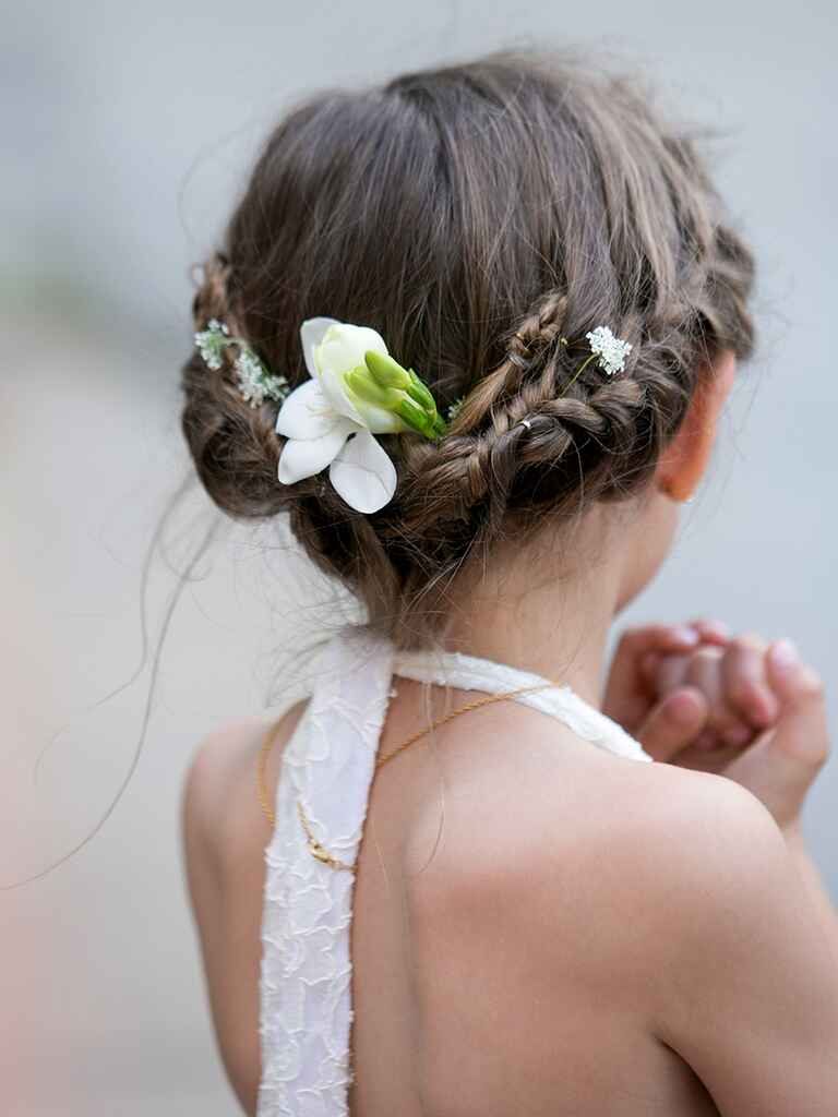 Simple updo for flower girls