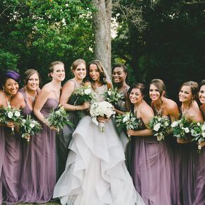 Lavender Floor Length Bridesmaid Dresses