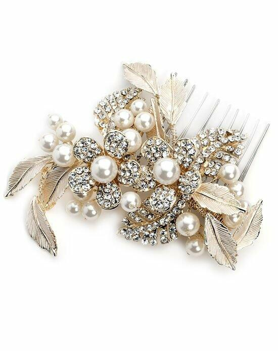 USABride Pretty Flower Gold Comb Wedding Pins, Combs + Clips photo
