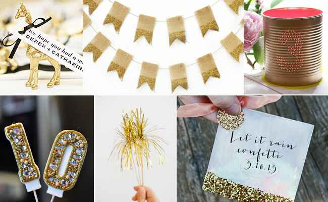 Gold DIY Projects from The Knot