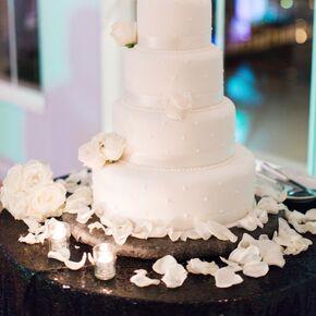 Wedding cakes elegant polka dot fondant wedding cake junglespirit Image collections