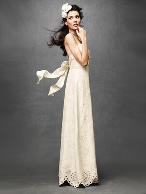 New anthropologie launches a bridal line bridal fashion theknot we think the scalloped hemline and eyelet style fabric on this dress are so sweet perfect for a laid back outdoor summer wedding junglespirit Gallery
