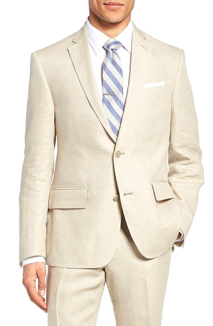 linen blazer beach wedding attire for men