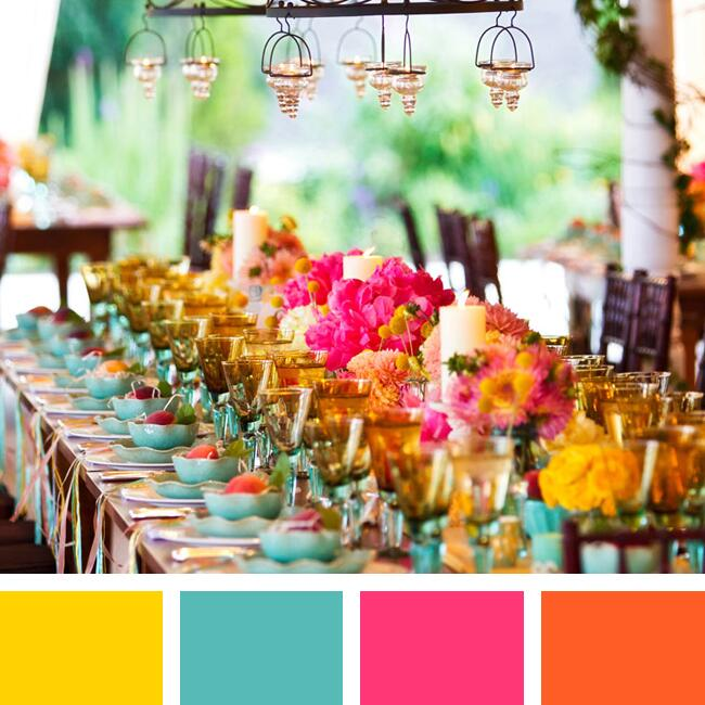 Choosing Wedding Colors Tool: Color Pairings We Love (You Will Too