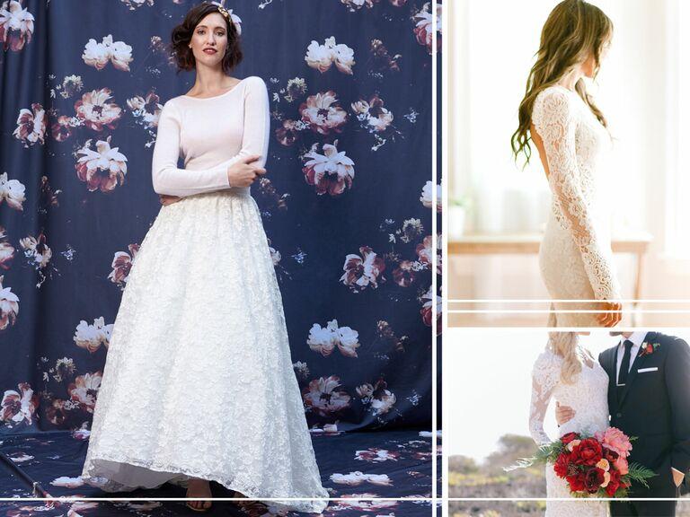 Trending fall wedding bridal looks