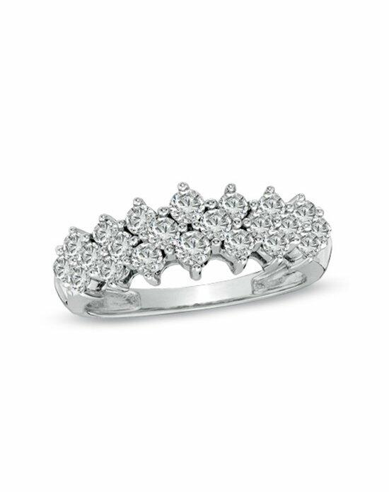 Zales 1 CT. T.W. Diamond Cluster Pyramid Band in 10K White Gold  18500140 Wedding Ring photo
