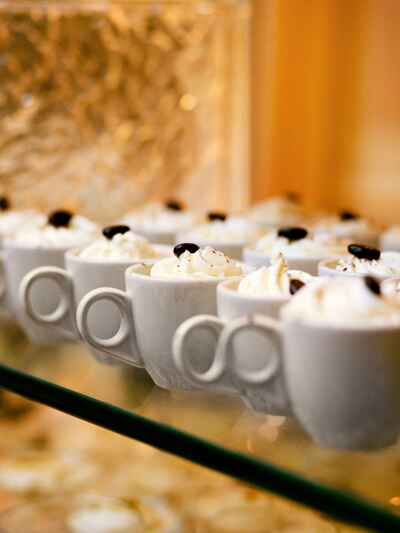Coffee desserts for a fun wedding reception idea