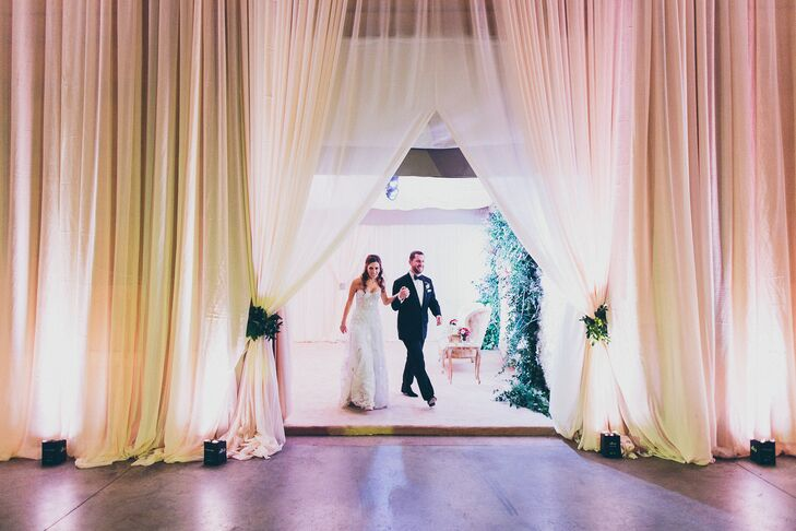 Grand Entrance Through Dramatic Draping