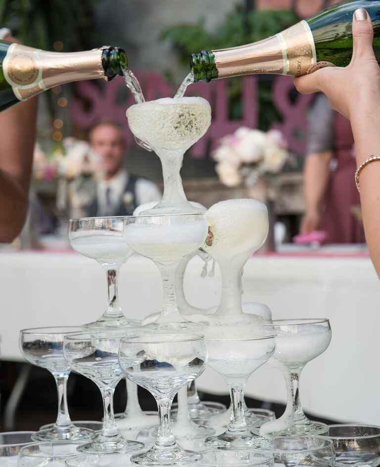 Champagne coupe tower