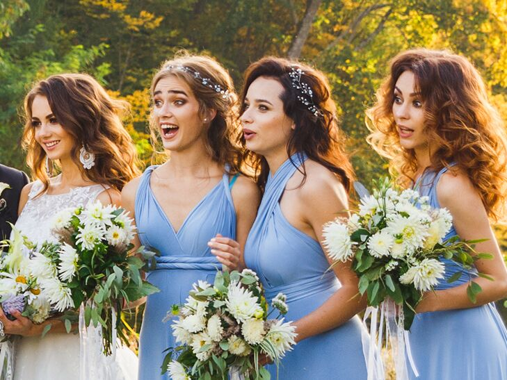shocked bridemaids