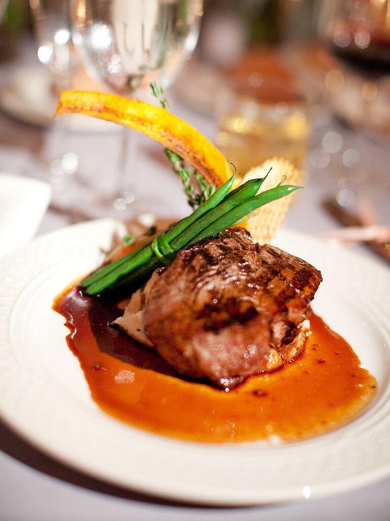 Filet Mignon And Green Beans Dinner Idea For A Wedding Reception Entree