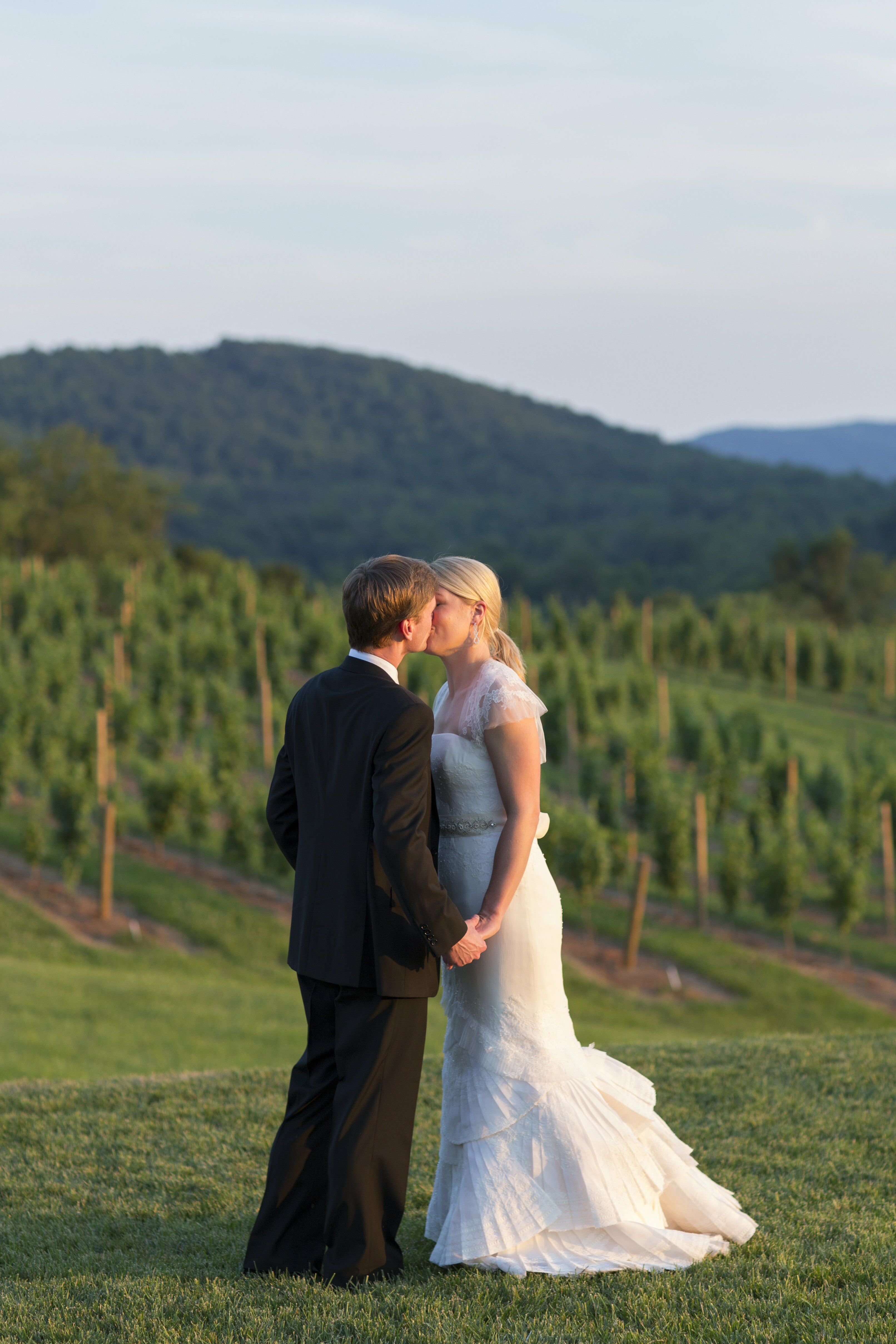 A rustic watercolor wedding in charlottesville va for Wedding dresses charlottesville va