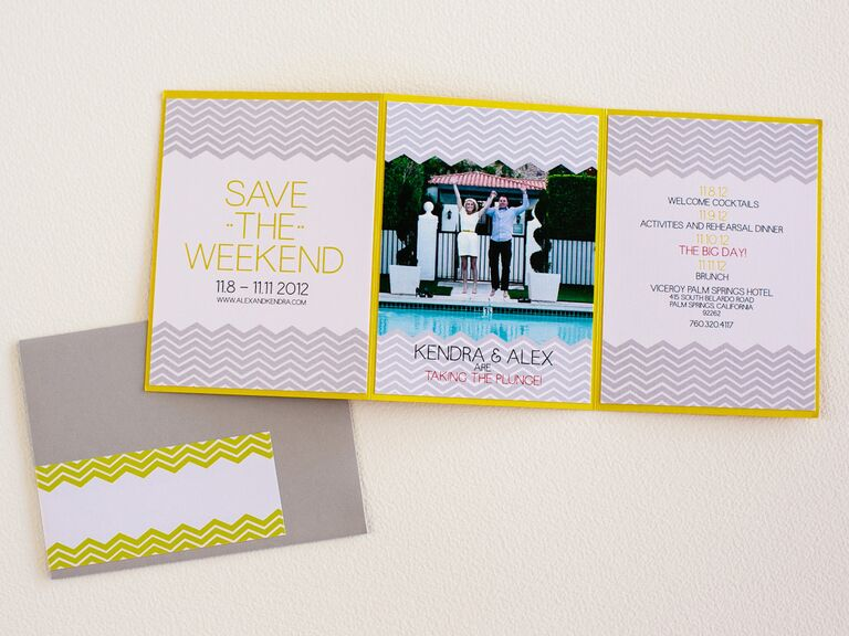 Trifold save-the-date from Posh Paperie