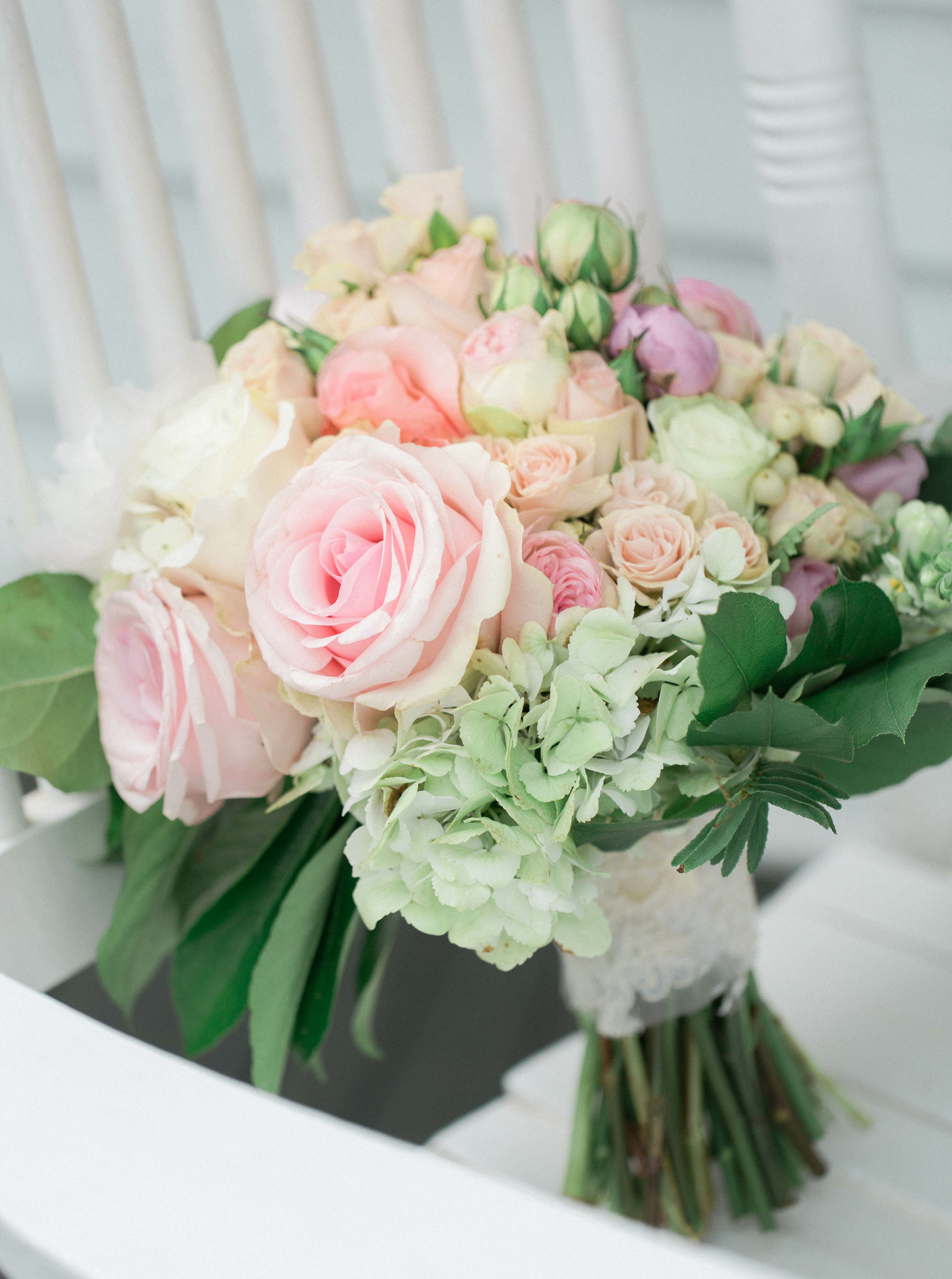 Lush Rose And Hydrangea Bridal Bouquet