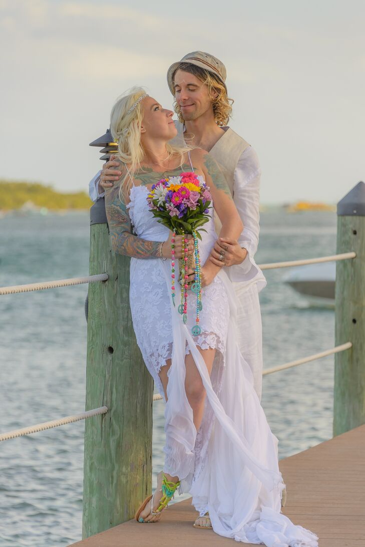 Boho Wedding Dress Florida : Bohemian short white lace wedding dress