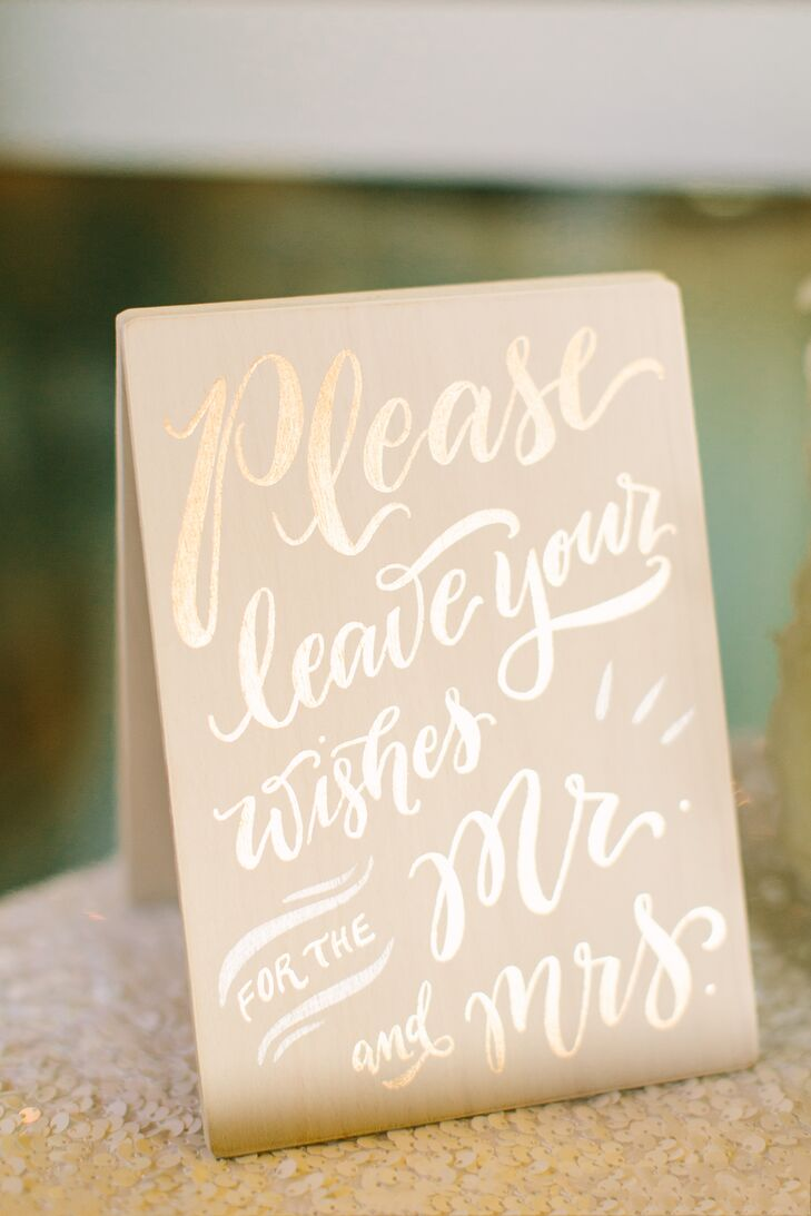 Glamorous Gold Guest Book Wedding Sign